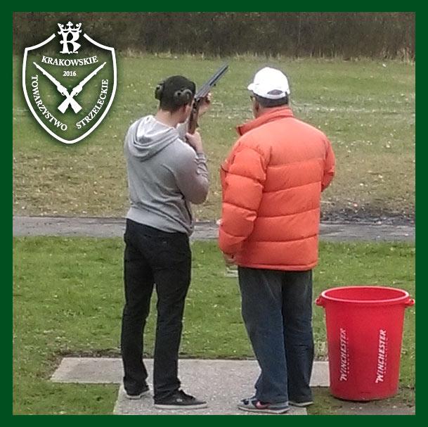 Trening strzelecki przed zawodami Trap 25